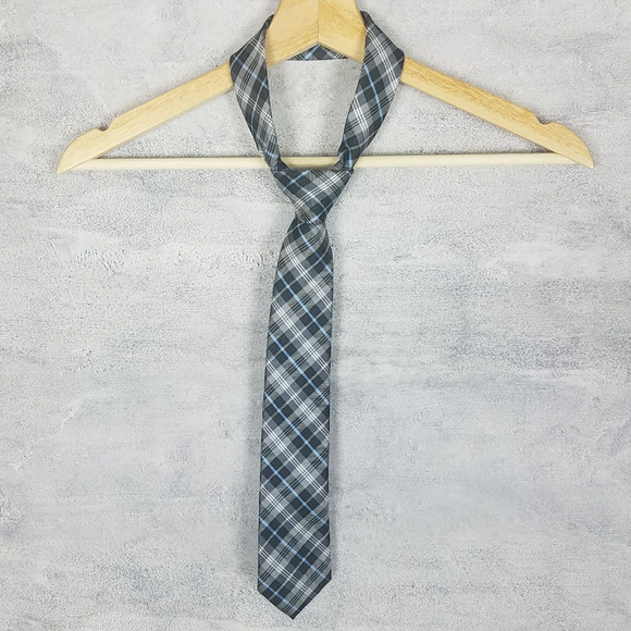 Chaps Other - Chaps Ralph Lauren Tie Slim Blue Black Tartan